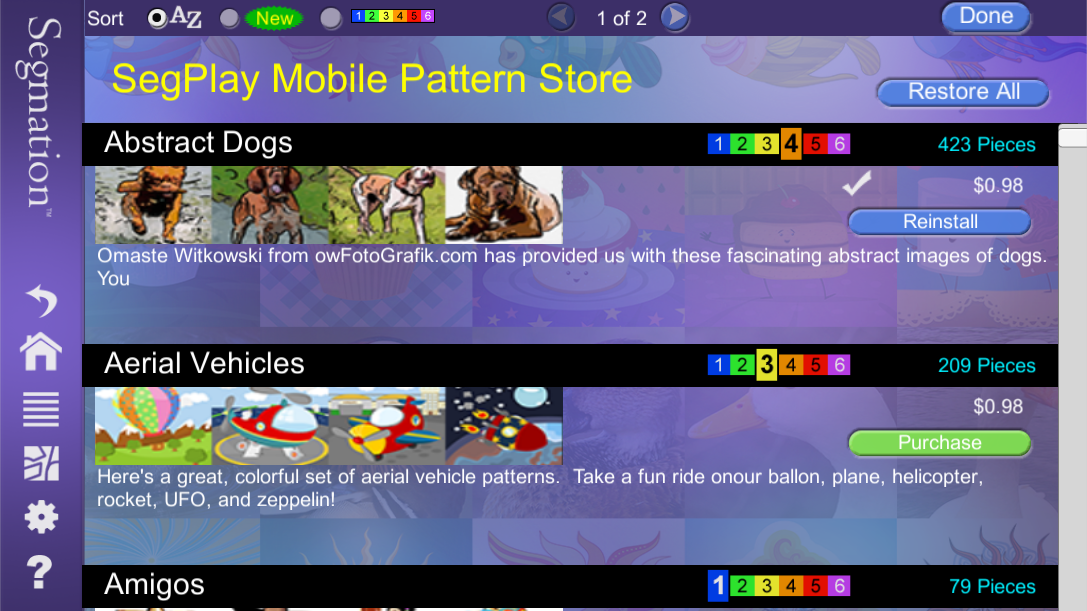 SegPlay Mobile v4 Home