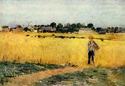 """Wikipedia """"Grain Field"""" by Morisot"""