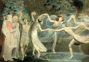 300px-Oberon,_Titania_and_Puck_with_Fairies_Dancing._William_Blake._c.1786