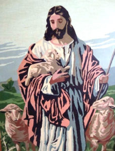 paint by number image of jesus the good shepherd