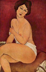 nude sitting on a divan modigliani