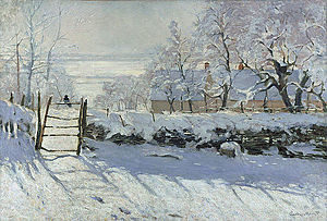 The Magpie painting by Monet