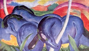 Blue Horses by Franz Marc