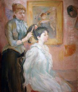 """Wikipedia """"La Coiffure"""" by Morisot"""
