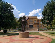 Statue of Te Ata on USAO campus
