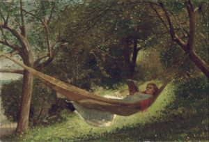 """Girl in the Hammock,"" 1873 (Wikipedia)"