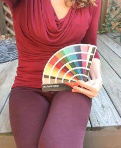 Dark Autumn clothing/fan palette